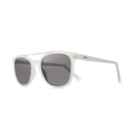 Clayton Polarized Sunglasses (Crystal Frame + Graphite Lens)