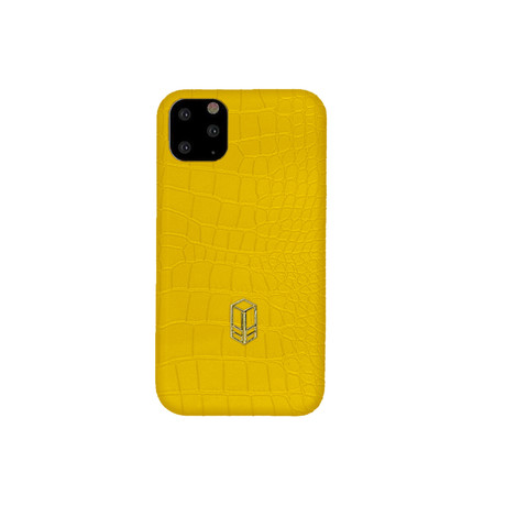 Elemnt // Embossed Leather iPhone Case // Yellow (iPhone XS)