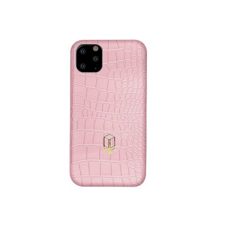 Elemnt // Embossed Leather iPhone Case // Pink (iPhone XS)