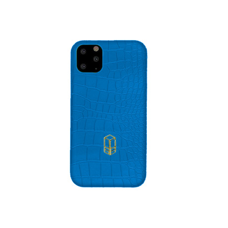 Elemnt // Embossed Leather iPhone Case // Blue (iPhone XS)