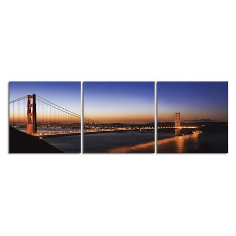 """Amber Lights Golden Gate (20""""H x 60""""W x 1""""D)"""