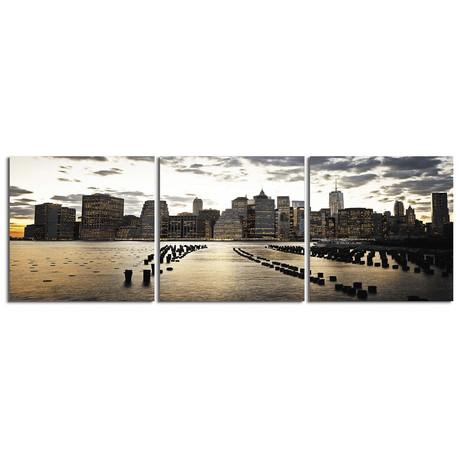 """Downtown Manhattan (20""""H x 60""""W x 1""""D)"""