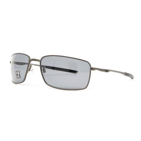 Men's 4075 Square Wire Polarized Sunglasses // 60mm // Carbon