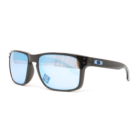 Men's Holbrook OO9102 Polarized Sunglasses // 55mm // Polished Black