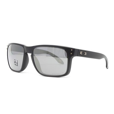 Men's Holbrook OO9102 Polarized Sunglasses // 55mm // Matte Black