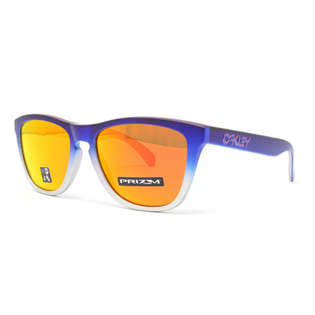 Men's Frogskins OO9013 Sunglasses // 55mm // Pink Blue Fade + Silver