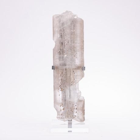 Selenite Crystal + Metal Acrylic Stand // Ver. I