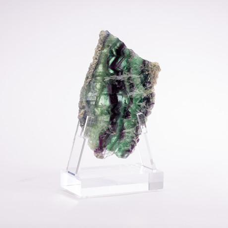 Fluorite Slice + Acrylic Stand // Ver. III