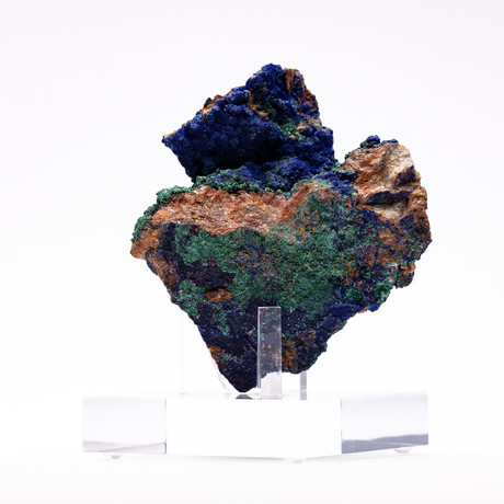 Malachite & Azurite + Acrylic Stand // Ver. I