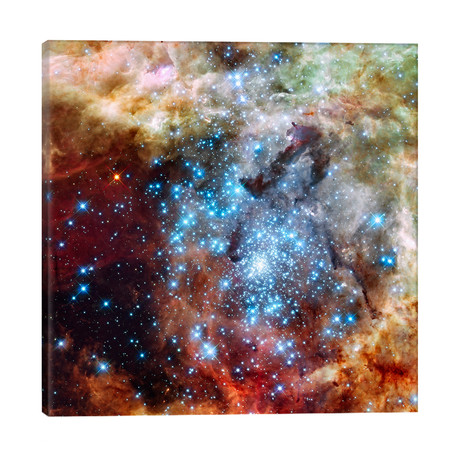 "Star Cluster on Collision Course (Hubble Space Telescope) // NASA (26""W x 26""H x 1.5""D)"