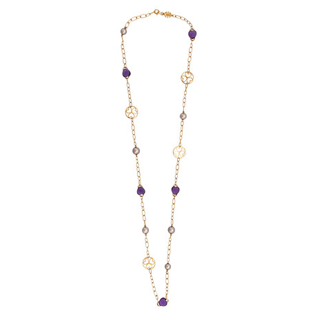 Mimi Milano 18k Rose Gold Amethyst Necklace II