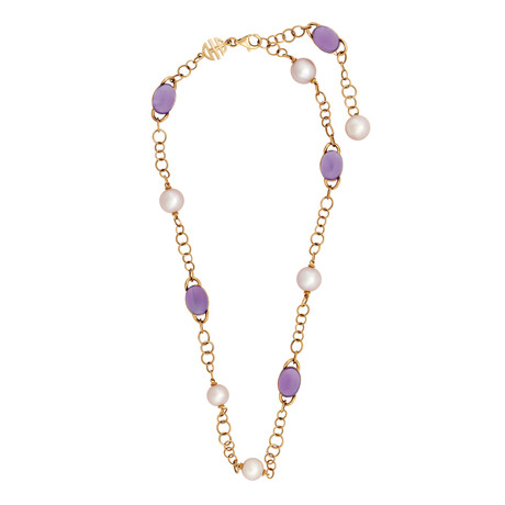 Mimi Milano 18k Rose Gold Amethyst Necklace I