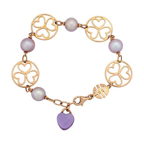 Mimi Milano 18k Rose Gold Amethyst Bracelet