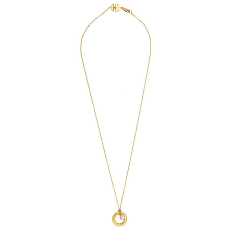 Mimi Milano 18k Yellow Gold Pink Cultured Freshwater Pearl Necklace