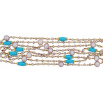 Mimi Milano 18k Yellow Gold Turquoise Necklace // Store Display