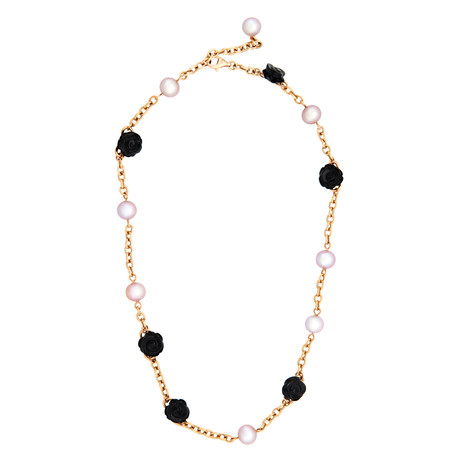 Mimi Milano 18k Rose Gold Black Agate Necklace II