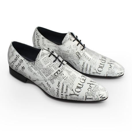 Writer Dress Shoes // White + Black (Euro: 39)