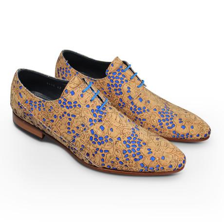 Cork Ocean Dress Shoes // Brown + Blue (Euro: 39)