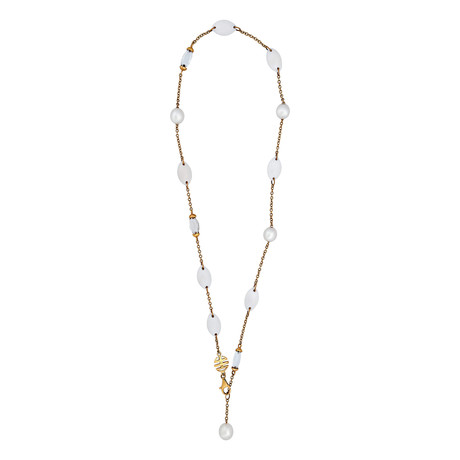 Mimi Milano 18k Rose Gold Rock Crystal Necklace