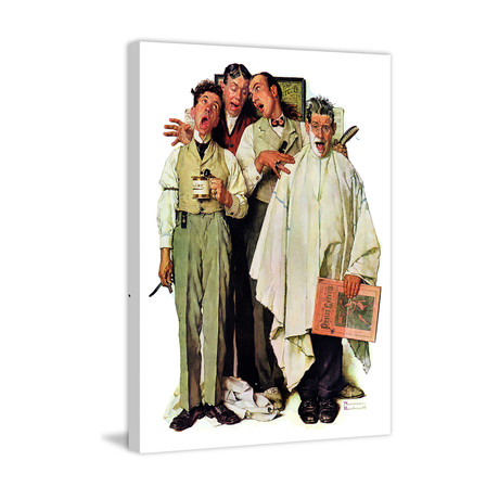 "Barbershop Quartet // Painting Print on Wrapped Canvas (24""W x 31""H x 1.5""D)"
