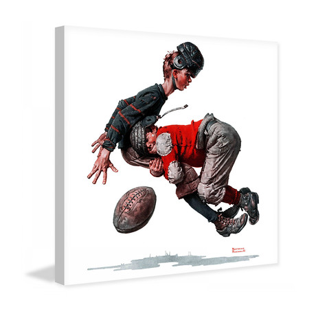 "Fumble or Tackled // Painting Print on Wrapped Canvas (12""W x 12""H x 1.5""D)"