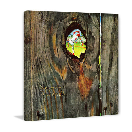 "Knothole Baseball // Painting Print on Wrapped Canvas (12""W x 12""H x 1.5""D)"