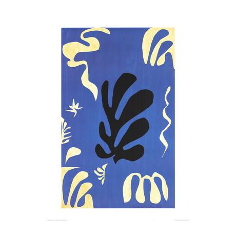Henri Matisse // Composition Fond Bleu // 1990 Offset Lithograph