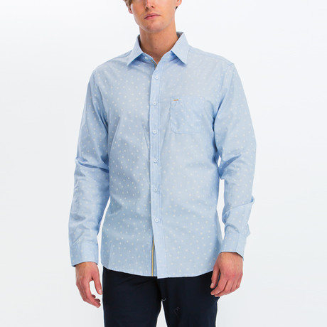 Christian Slim Fit Long Sleeve Button Down Shirt // Blue (S)