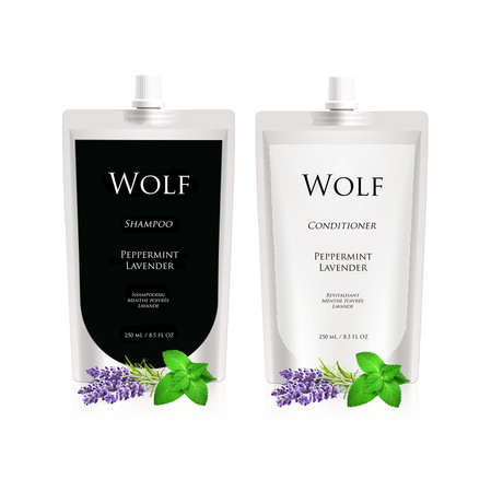 Shampoo + Conditioner Refill Pouches (Peppermint Lavender)