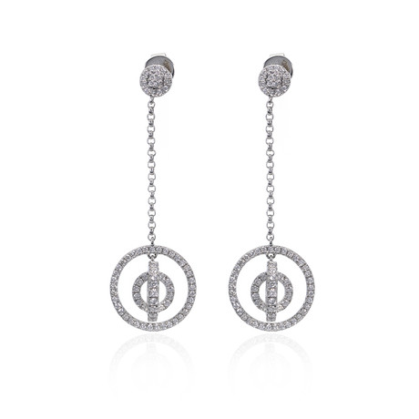 Piero Milano 18k White Gold Diamond Earrings II