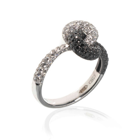 Piero Milano 18k White Gold Diamond Statement Ring // Ring Size: 7.25