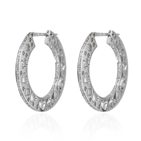 Piero Milano 18k White Gold Diamond Earrings IV