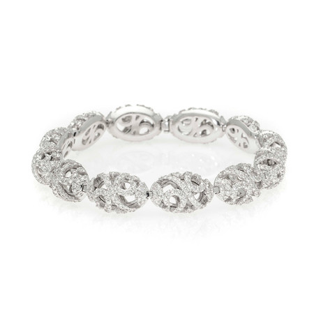 Piero Milano 18k White Gold Diamond Bracelet