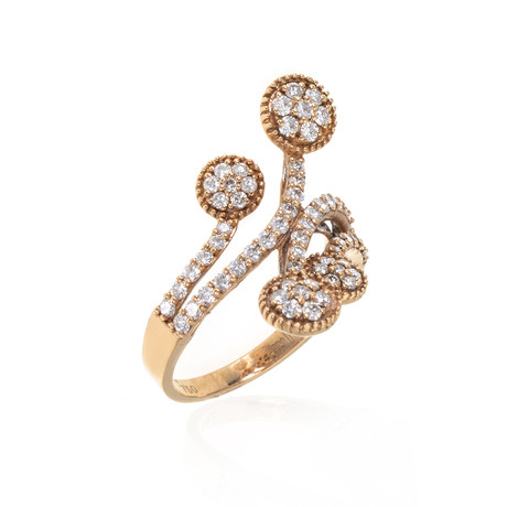 Piero Milano 18k Rose Gold Diamond Ring // Ring Size: 6.5