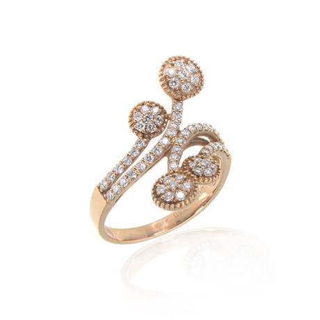 Piero Milano 18k Rose Gold Diamond Ring // Ring Size: 8