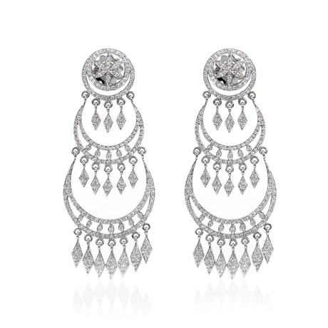 Piero Milano 18k White Gold Diamond Earrings I