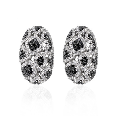 Piero Milano 18k White Gold Diamond Earrings III