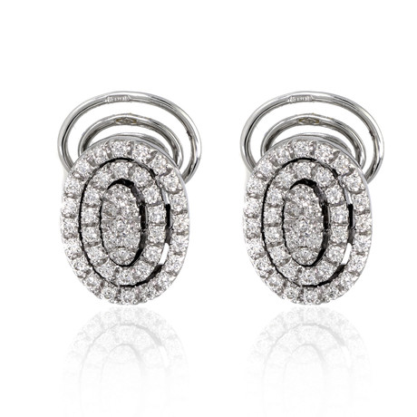 Piero Milano 18k White Gold Diamond Earrings VII