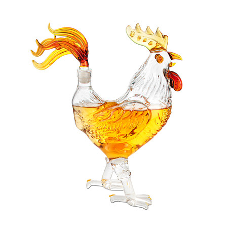 Rooster Shaped Decanter