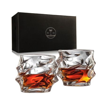 Everest Mountain Elegant Whiskey Glasses // Set of 2