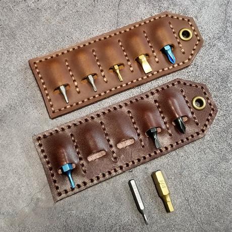Hex Leather Tag (Egnlish Tan)