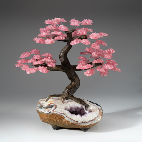 The Love Tree // Rose Quartz Tree + Amethyst Matrix // Custom v.2
