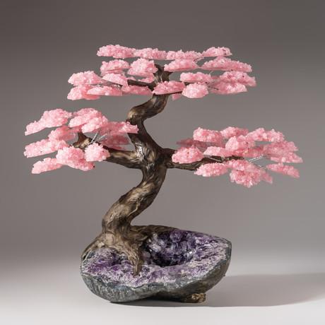 The Love Tree // Rose Quartz Tree + Amethyst Matrix // Custom v.5
