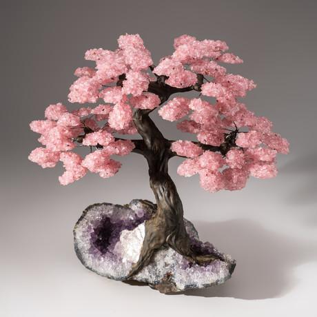 The Love Tree // Rose Quartz Tree + Amethyst Matrix // Custom v.3