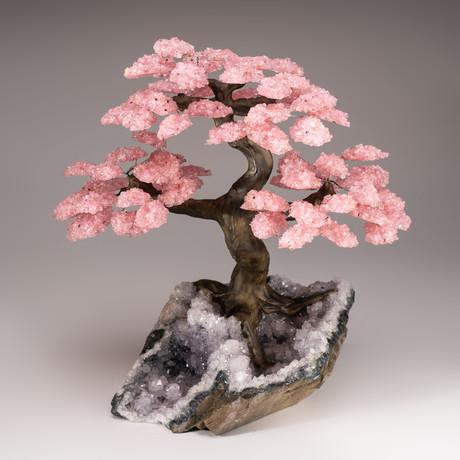 The Love Tree // Rose Quartz Tree + Amethyst Matrix // Custom v.1