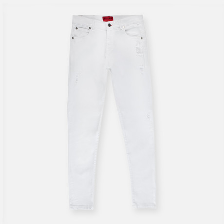 Distressed Jeans // Off White (30X30)