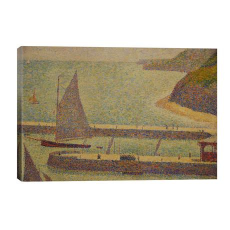 "Port En Bressin // Georges Seurat (40""W x 26""H x 1.5""D)"