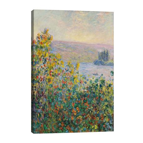 "Flower Beds at Vetheuil // Claude Monet (26""W x 40""H x 1.5""D)"
