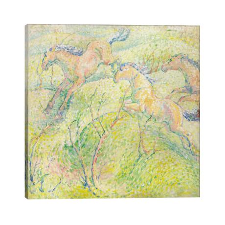 "Jumping Horses, 1910 // Franz Marc (26""W x 26""H x 1.5""D)"