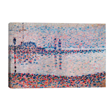 """Study For The Channel At Gravelines // Georges Seurat (40""""W x 26""""H x 1.5""""D)"""